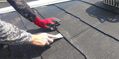 屋根材隙間なし